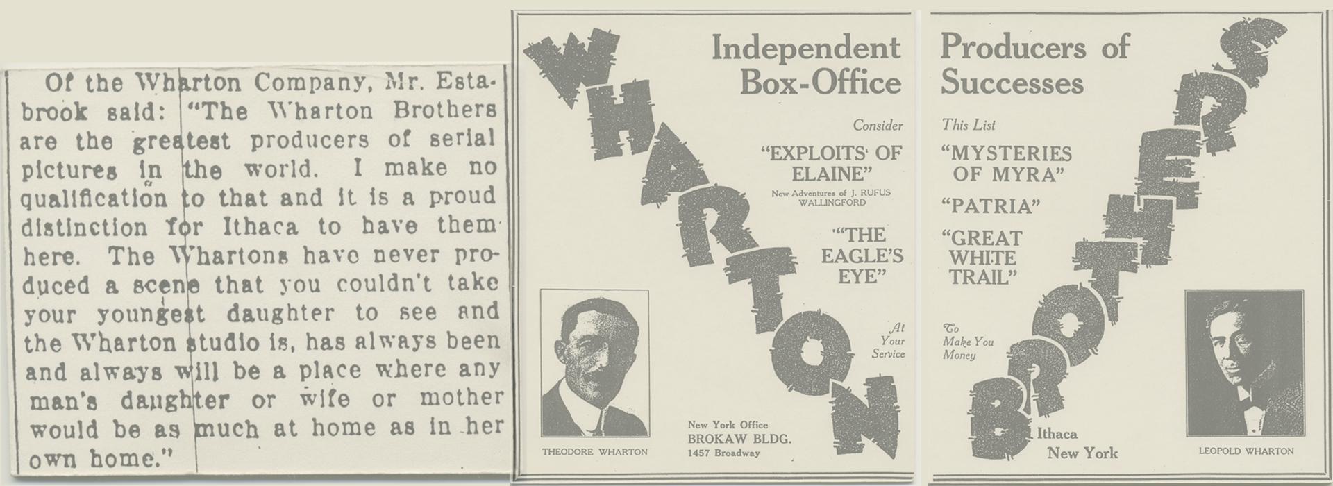 Wharton Studio News 1914-19